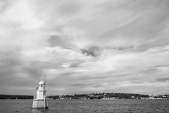 DSC00882 (Damir Govorcin Photography) Tags: small lighthouse sydney harbour blackwhite monochrome natural light zeiss 1635mm sony a7ii clouds