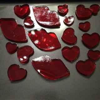 Jello Jiggler Hearts and Lips