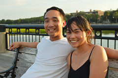 Simon and Christina (radargeek) Tags: charleston sc southcarolina tourist couple august 2017 bench australian downtown