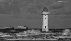 It's going to be a rough crossing CO1A0766 (chris fearnehough) Tags: perchrock lighthouse newbrighton newbrightonlighthouse ships mersey wirral liverpool roughsea ferry