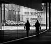 double (heinzkren) Tags: blackandwhite bw sw monochrome panasonic lumix urban candid reflection spiegelung street streetphotography wien vienna woman frau silhouette line linie doppelt schwarzweis passage durchgang
