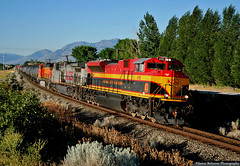 My First Retro Belle (jamesbelmont) Tags: kansascitysouthern retrobelle emd sd70ace riverton utah drgw unionpacific bnsf trackagerights poolpower