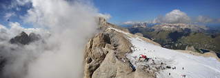 Weather on the Marmolada can be so unpredictable