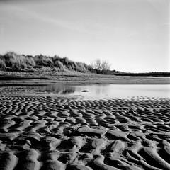 Ridules Salines (yoannpupat) Tags: 6x6 bwfilm ishootfilm 120film landscape paysage sand noiretblanc tlr rolleiflex fujifilm acros100 analogic filmisnotdead square bw mediumformat