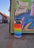 It's just Rubbish.. (Harleynik Rides Again.) Tags: litter trash bin rubbish rainbow graffiti streetart glastonbury harleynikridesagain nikondf streetlife urbex