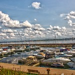 Prescott Ontario - Canada  - Prescott Heritage Harbour  - Reflection Boats thumbnail