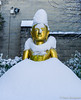 The Snowy Buddha (daveseargeant) Tags: buddha golden snow religion leica x typ 113 colour gold winter