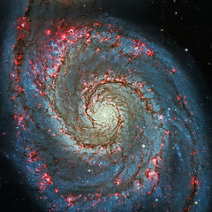 Ultra-Luminous X-Rays in the Whirlpool Galaxy, optical (sjrankin) Tags: whirlpoolgalaxy m51 4march2018 edited nasa galaxy chandra chandraspacetelescope xray optical