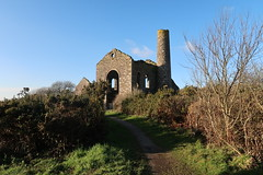 South Wheal Frances (leavesandpuddles) Tags: cornwall cornish kernow kerrier mining mine southwhealfrances greatflatlode treskillard abandoned abandonedmine chimney derelict dereliction decaying decay postindustrial tinmine