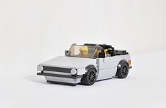 VW Golf Mk1 Cabriolet (KMP MOCs) Tags: toy toys car cars vw volkswagen golf cabriolet lego moc bricks vehicle vehicles mk1 sportscar convertible wheel sky road