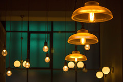 Lighten up (Barrie T) Tags: lightopia smileonsaturday lights indoors dobsonparnell restaurant newcastleupontyne quayside