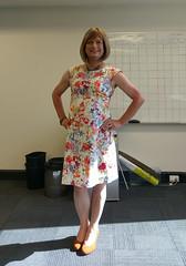 Summer Florals (justplainrachel) Tags: justplainrachel rachel cd tv crossdresser transvestite floral dress frock trans selfie selfportrait heels