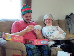 Christmas morning (pr0digie) Tags: rochester christmas mom nate presents catan settlersofcatan smile laugh funny