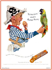 Life Savers - Butter Rum  Kid Pirate  1957 (StarRunn) Tags: lifesavers candy food kid pirate parrot advertising 1957