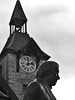 Tomás Dáibhis (Thomas Davis) monument and Clock House in Mallow, Co. Cork, Ireland (Peter Apas) Tags: mallow momument tomásdáibhis panasoniclumixdmcfz330 cocork