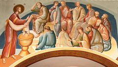 Sts. Cyril and Methodius Jesus Washing the Feet of the Apostles (Jay Costello) Tags: stscyrilandmethodiusukrainiancatholicchurch stscyrilandmethodius ukrainian catholic ukrainiancatholic church worship god religion architecture stcatharineson stcatharines ontario canada ca on mural jesus jesuschrist apostles bible