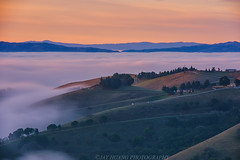 Dawn Ridge (Jaykhuang) Tags: lowfog dawncolor sunrise rollinghills ridge lights trivalley livermore sanramonvalley jayhuangphotography farm bayarea california