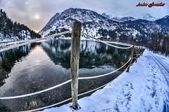 Panticosa (Andrés Gz.) Tags: panticosa lake lago nieve snow landscape paisaje sunset puestadesol nikon d7100 samyang 8mm spain