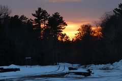 Northwoods Sunset (view2share) Tags: sunset sundown sun cn canadiannational cold housetrack teamtrack snow snowfall trains track transportation train tracks transport trackage trees rr railway railroading railroads railroad rail rails railroaders rring freight deansauvola dusk twighlight evening stationsign february182018 february2018 february 2018 pine northwoods northwood northernwisconsin yard jct junction sky clouds cloud lincolncounty