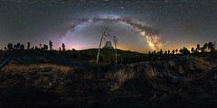 Between The Devil and Heaven (open on PC for VR) (Jeff Rowton) Tags: milkyway devilstower nature nightscape nightsky night wyoming equirectangular 360degree panorama nationalmonument sphericalprojection
