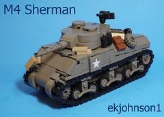 M4 Sherman (ekjohnson1) Tags: bricklink brickfair set olddarkgrey europe france america germany two war world wwii legos m4 sherman moc lego