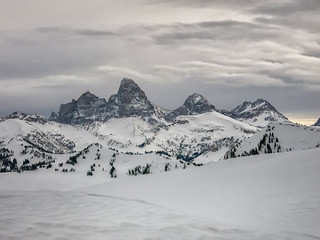 up close look of Tetons from Grand Targhee
