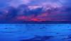 Red vs Blue (JPLapointe) Tags: froid glacial sun soleil sunrise sky glace givre greatsky canada clouds fleuve frosty frozen quebec québec quebeccity quebectourisme nikon nationalgeographic nuages neige nationalgeographique nature natinalgeographic ngc colors church smoke coucher de mer ciel océan eau