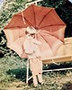July 1968 - Me with an umbrella (Valde65) Tags: 1968 estate summer analogic country umbrella casella amarcord