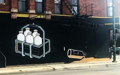 Spilt Milk by The Cobblers (wiredforlego) Tags: graffiti mural streetart urbanart aerosolart publicart chicago illinois ord walruscobbler