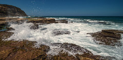 The Cauldron (OzzRod) Tags: newcastle shoreplatform sandstone shoreline coast seascape surge splash wave swell sea susangilmour laowa12mmf28zerod k1 pentax grouptripod