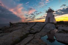 Terence Bay, Nova Scotia (B.E.K.) Tags: terence bay nova scotia canada sunset light lighthouse reflection water sky clouds photographer puddle rain outdoor landscape nikond600 nikon1735f28