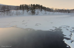 Frozen river (irene.holmen) Tags: river water winter cold elv frost kulde vinter vinterlandskap norge norway frostrøyk ice is pastellfarger pastel february atndalen hedmark dnt visitnorway atna atnelva