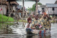 Ganvié, Benin (gstads) Tags: ganvié ganvie cotonou benin bénin béninois africa african afrique africain africans africains stilt stilts boat family nokoue house houses rowing canoe paddle paddling tofinu