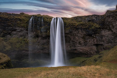 Lenticular Clouds Over Seljalandsfoss (Mike Ver Sprill - Milky Way Mike) Tags: seljalandsfoss iceland landscape nature waterfall water falls lenticular clouds cloud sunrise sunset rocks cliff edge ledge nikon d800 d810 travel explore