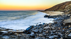 White Pt. Mugu Beach (JohnLazo19) Tags: 2470mm beach canon5dmarkiv landscape longexposure morning ocean rocks sunrise water