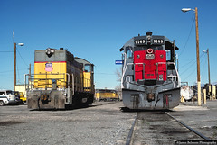 Neighbors on the Service Rail (jamesbelmont) Tags: unionpacific southernpacific utahrailway sw10 sd45 provo utah train railroad railway emd