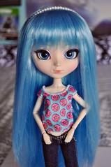 miku (kimberly °(ᵔᴥᵔ)°) Tags: pullip pullips doll dolls custom customized blue hair wig hatsune miku vocaloid