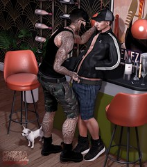 . EohB&Brent . #Catwa #Straydog #Modulus #DAPPA #Mossu #KalRau #ValeKoer #TheOwl #Ascend #Xenials (Crayolas Clothes) Tags: catwa straydog modulus dappa mossu kalrau valekoer theowl ascend xenialss gay guy men man dude male buddy avatar night bar puppy couple couplepose pose couplegoals sl slfashion slblogger iblog secondlife secondlifefashionblogger secondlifesblogger belleza g