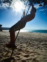 Otama 2018 - On the Beach 29 (C & R Driver-Burgess) Tags: beach family boy girls young man women together sun summer sand surf blue sky sea pohutukawa new zealand aotearoa white gold