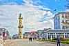 Warnemünde - Leuchtturm (www.nbfotos.de) Tags: warnemünde rostock leuchtturm lighthouse promenade wolken clouds mecklenburgvorpommern