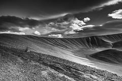 Desolation (Sizun Eye) Tags: volcano volcanic crater hverfjall myvatn iceland cendres ashes sizuneye nikond750 tamron2470mmf28 d750 bw monochrome nb