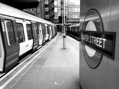 Baker Street (James Mans) Tags: bw monochrome blackandwhite iphone8plus iphone london tube metropolitan line