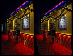 American Diner 3-D / CrossEye / Stereoscopy / HDR / Raw (Stereotron) Tags: americandiner art deco modernism saxony sachsen zwickau night nacht architecture tonemapping hdr hdri raw crosseye crosseyed crossview xview cross eye pair freeview sidebyside sbs kreuzblick 3d 3dphoto 3dstereo 3rddimension spatial stereo stereo3d stereophoto stereophotography stereoscopic stereoscopy stereotron threedimensional stereoview stereophotomaker stereophotograph 3dpicture 3dglasses 3dimage canon eos 550d chacha singlelens kitlens 1855mm availablelight 3dframe fancyframe floatingwindow spatialframe stereowindow window