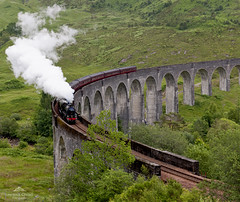 Getting up a head of steam. (lawrencecornell25) Tags: scenery highlands scottishhighlands glenfinnanviaduct jacobite steamtrain trains harrypotter scotland