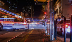 crossing gough (pbo31) Tags: bayarea california nikon d810 color february winter boury pbo31 2018 sanfrancisco city lightstream motion traffic roadway muni bus motionblur taxi marketstreet civiccenter gough cross infinity stop