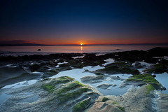 Last Light on the Rocks (PeterYoung1.) Tags: atmospheric beautiful colours green landscape nature rocks scenic scotland seascape sunset scottish peteryoung1 uk water
