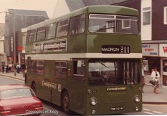 THM521M, Penzance, Early 1980s (aecregent) Tags: penzance early1980s westernnational daimler fleetline mcw dms dms1521 thm521m 511