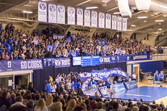 Fired Up Volleyball Crowd (aaronrhawkins) Tags: volleyball crowd student section cheer shout yell court smithfieldhouse byu brighamyounguniversity roc loud jump provo utah aaronhawkins spectator college university mens