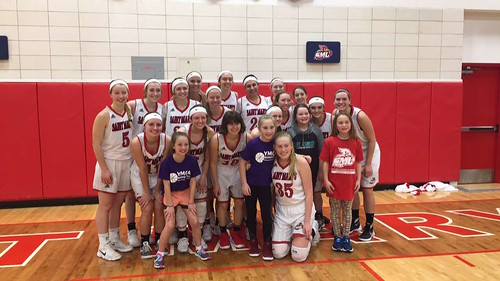 Women's basketball with youth