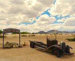 Driving through the Namib Desert (197travelstamps) Tags: namibia africa namib desert travel 197travelstamps adventure dune car wreck solitaire
